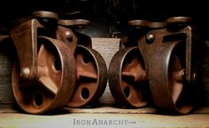 Antique Double Wheel Industrial Casters