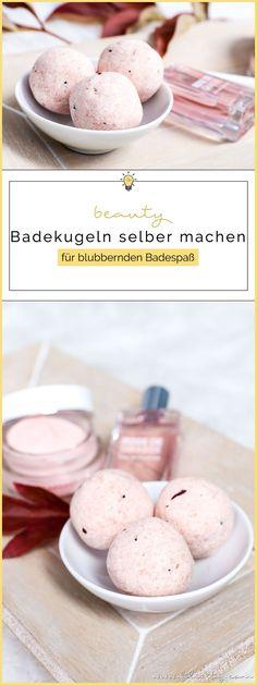 Beauty-DIY: Badebomben (Badeperlen, Badekugeln) selber machen für blubbernden Badespaß #badeperlen #badekugeln #badebomben