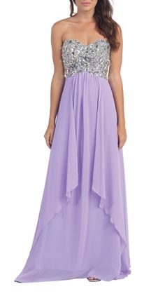 Bianca lilac dress from Mybella Strapless Dress Formal, Prom Dresses, Formal Dresses, Tuxedo Dress, Lilac Dress, Wedding Gowns, Boutique, Chic, Sport