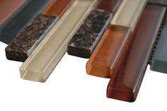 "Desert Beige Glossy Stone Glass Mosaic Tiles Sheet Size: 12 7/8"" x 11 3/4"" x 3/8"" Tile Size: Random Brick Type: Glass, Stone Finished: Glossy, Polished HTCWG1"