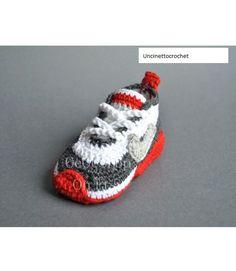 CROCHET PATTERN Baby shoes newborn sneakers by uncinettocrochet