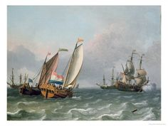 """Dutch Shipping in a Choppy Sea"", by  Ludolf Backhuysen"