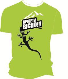 Camiseta técnica lima aprieta bicho salamandra para escaladores. #escaladores #bloqueros #camisetas #tees