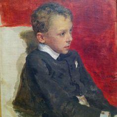 """Ilia Efimovich Repin """"Portrait of a Boy"""""""