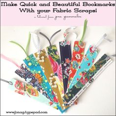 How to make quick and easy bookmarks using your fabric scraps