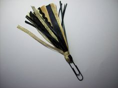 Handmade Gold and Black Ribbon Paperclip Page Marker and Planner Decoration