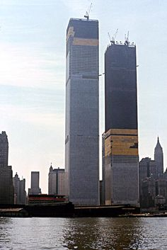New York in the 1970s. World Trade Center.
