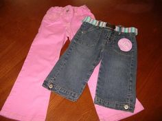 Mouse over image to zoom    Have one to sell? Sell it yourself  Girls NWT ARIZONA Capri Pants/Jeans & TALBOTS KIDS Pink Khakis Size 4 Slim $8.99