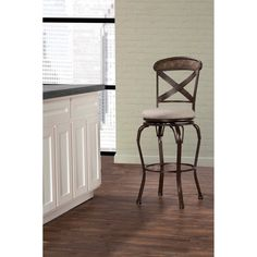 Hillsdale Furniture Kingsley Indoor/Outdoor Swivel Counter Stool - 6312-826