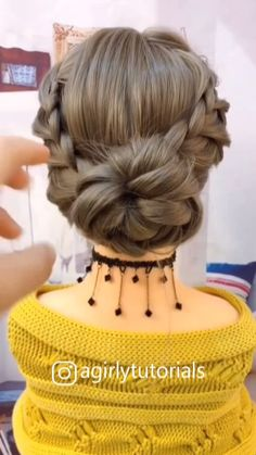 12 Tutorials Braid Hair You Can Do Yourself Part 5 - Braids World 2020 Easy Hairstyles For Long Hair, Cute Hairstyles, Braided Hairstyles, Beautiful Hairstyles, Indian Hairstyles, Updo Hairstyle, Hairstyles For School, Wedding Guest Hairstyles Long, Lehenga Hairstyles
