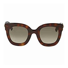 1cae7801dd2 Gucci GG 0208S 003 Havana Plastic Fashion Sunglasses Brown Gradient Lens  Review