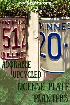 These upcycled License Plate Planters bring a touch of rural charm to any garden. I sell them on my Etsy site, or you can make your own with my directions! License Plate Crafts, Old License Plates, License Plate Art, License Plate Ideas, Licence Plates, Old Plates, Yard Art, Metal Working, Projects To Try