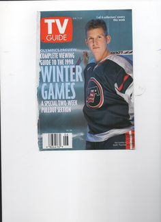 TKACHUK Usa Hockey, Winter Games, Tv Guide, Olympics, Baseball Cards, Cover, Sports, Hs Sports, Sport