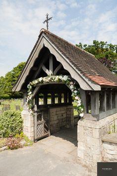 Church lych gate flower arch Wedding Blog, Wedding Styles, Wedding Ideas, Seating Chart Wedding, Seating Charts, Mary John, Church Flowers, Grey Room, Wedding Reception Decorations