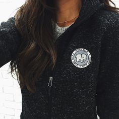 Black Heather Fleece Full Zip
