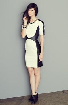 Black & White Colorblock Dress