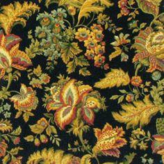 Carole Fabrics Half Hour Ebony Jacobean Fabrics