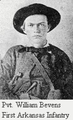 Pvt. William Bevers, 1st Arkansas Infantry Regiment.