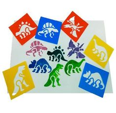 Children's Reusable Dinosaur Stencils