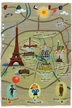 map of Madeleine's Paris