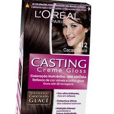 l'oreal casting creme gloss   Coloração Casting Creme Gloss 412 Cacau Glacê - L'Oreal Paris
