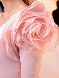 Pink Dress with Rose on Shoulder | ZsaZsa Bellagio