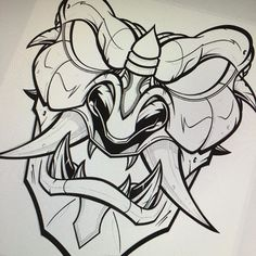 Base down, now for the details. #pencil to #vector #illustration #samurai #mask #sweyda