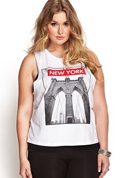New York Muscle Tee | FOREVER21 #F21Plus #GraphicTee