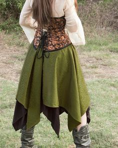 Hey, I found this really awesome Etsy listing at https://www.etsy.com/listing/108524950/green-pixie-skirt-renaissance-halloween
