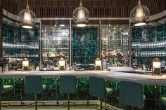 The Continental - Contemporary Open Plan in Hong Kong by David Collins Studio Contemporary Bar, Modern Bar, Restaurant Interior Design, Top Interior Designers, Art Nouveau, David Collins, Designer Bar Stools, Hotel Interiors, Restaurant Interiors