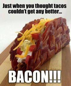 OMG ,Bacon Taco > Food Porn