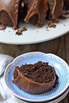 The BEST Triple Chocolate Zucchini Bundt Cake. This is moist, full of chocolate and seriously the best cake ever! mountainmamacooks.com