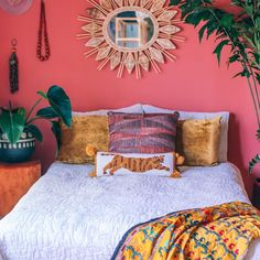 Tigress Pom Pom Hook Pillow by Justina Blakeney® Bedroom Colors, Bedroom Decor, 60s Bedroom, Bedroom Ideas, Boho Room, New Room, Boho Decor, Funky Decor, Bright Decor