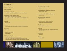 Eagle Court of Honor program (inside pages). Easy to do if you can find some old photos of former schout acttivities.