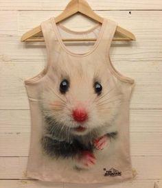 New men 2014 3 d animal skeleton print sleeveless vest (hamster) M | eBay
