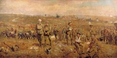 The Breaking of the Hindenburg Line by James Prinsep Beadle, 1918.