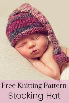 Free Knitting Pattern - An adorable free baby hat knitting pattern that s  perfect for baby shower. Sweater Knitting PatternsBaby Hats KnittingKnitted  ... e8b949217643
