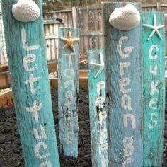 Seaside garden markers