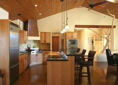 Straw Bale House - traditional - kitchen - santa barbara - Poirier + Associates Architects