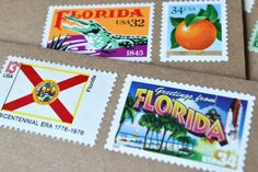 My Florida Greetings stationery is ready to be mailed first class from the Sunshine State or given as a gift set to the Floridian in your life. This handcrafted set makes a perfect Floridian birthday, holiday or shower gift, and works wonderfully as personal stationery.