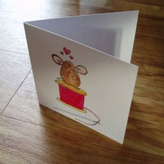 Mouse love card by onelittlepug on Etsy