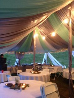 Tent Draping at it's finest! WWW.TracyAbuhl.Ws