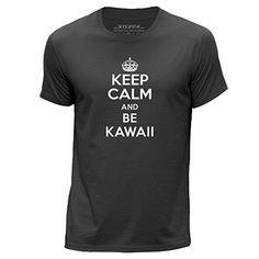 STUFF4 Hombres/XXX Grande (3XL)/Gris Oscuro/Cuello redondo de la camiseta/Keep Calm Be Kawaii #camiseta #realidadaumentada #ideas #regalo