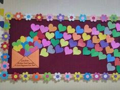 Visual result of middle school classroom board samples - Valentinstag ideen Classroom Board, Middle School Classroom, School Bulletin Boards, Classroom Displays, Classroom Decor, February Bulletin Board Ideas, School Decorations, Valentine Decorations, Diy And Crafts
