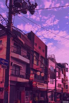 Aesthetic Japan, City Aesthetic, Purple Aesthetic, Aesthetic Photo, Aesthetic Anime, Aesthetic Pictures, Aesthetic Drawing, Anime Scenery Wallpaper, Aesthetic Pastel Wallpaper