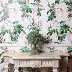 CASTANEA Stripe Wallpaper Ice Pink