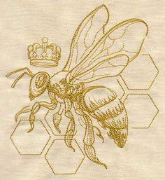 Queen Bee design (UT4470) from UrbanThreads.com