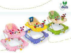 Modelo Pavo Real  -- Precio: $645.ºº -- Detalles: · Estructura regulable al tamaño del niño. · Charola con figura y sonido para entretenimiento del niño. · Asiento acolchado desmontable. · Utiliza dos baterías AA de 1.5 V -- Colores: *Rosa *Morado *Verde ---  Para comprar esta hermosa andadera, sólo da click en la imagen