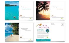 Travel Agency Postcard Template Design by StockLayouts