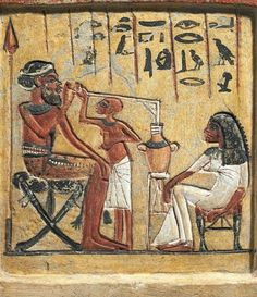 It is clear from countless ancient texts and paintings (such as this one of an old man drinking beer through a long straw from Egypt, c. 1350 B.C.E.) that beer was a common -- and even celebrated -- part of everyday life in both Egypt and Mesopotamia.